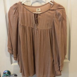 O'Neill Dusty Rose XS Peasant Blouse